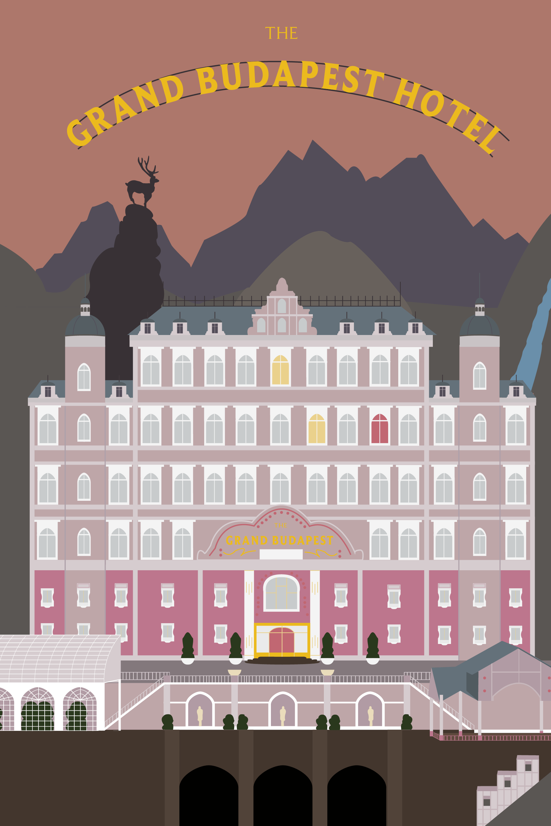 Cover art for the Grand Budapest Hotel