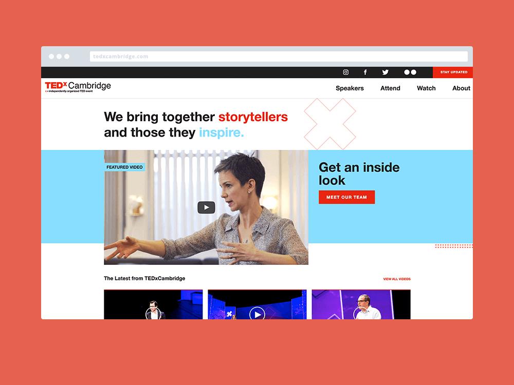 Image of TedXCambridge Website