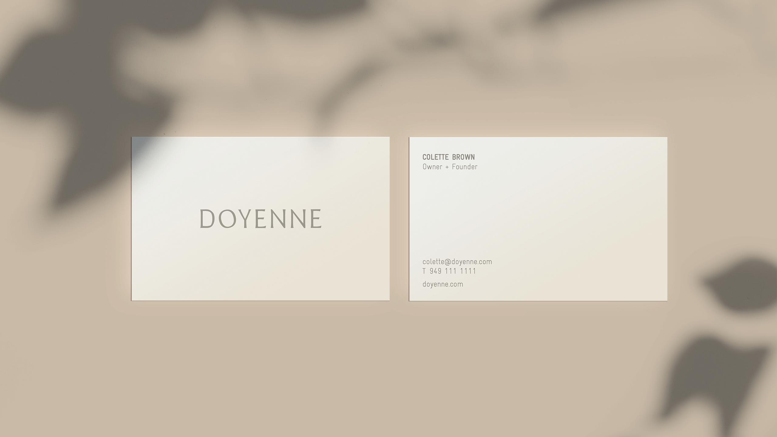 Doyenne Business Cards