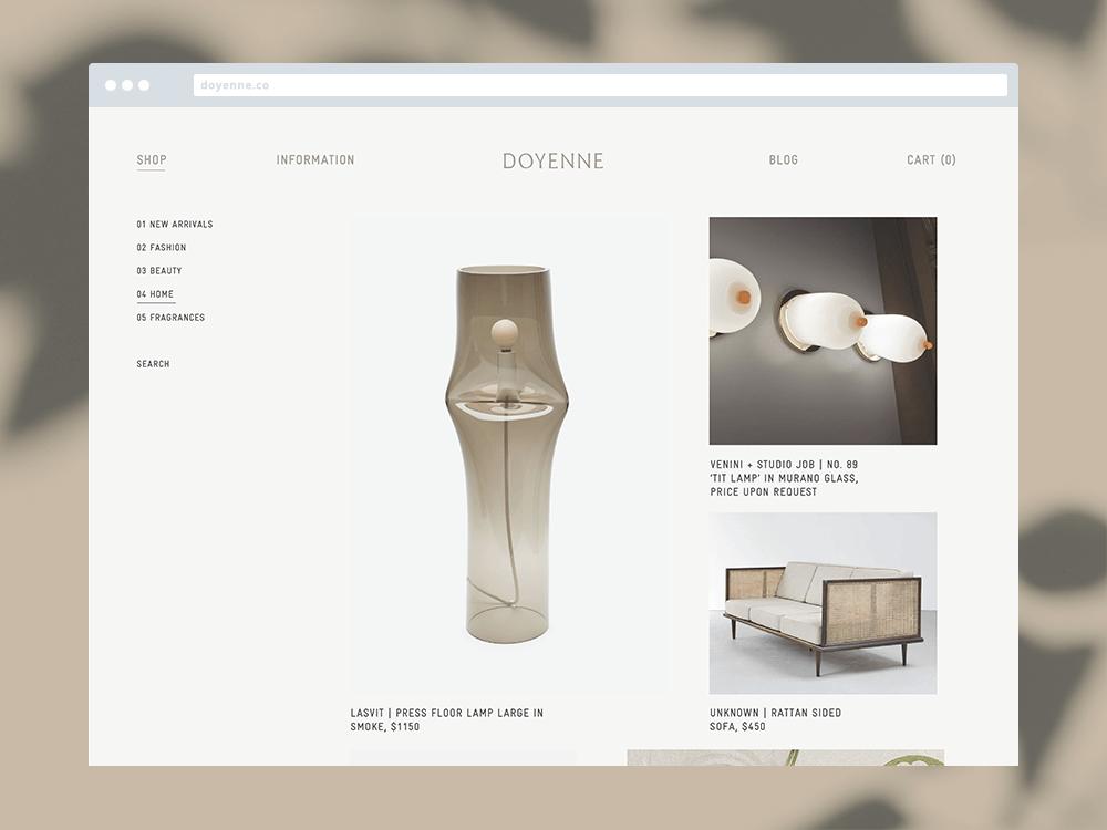 Doyenne Website Screen 1