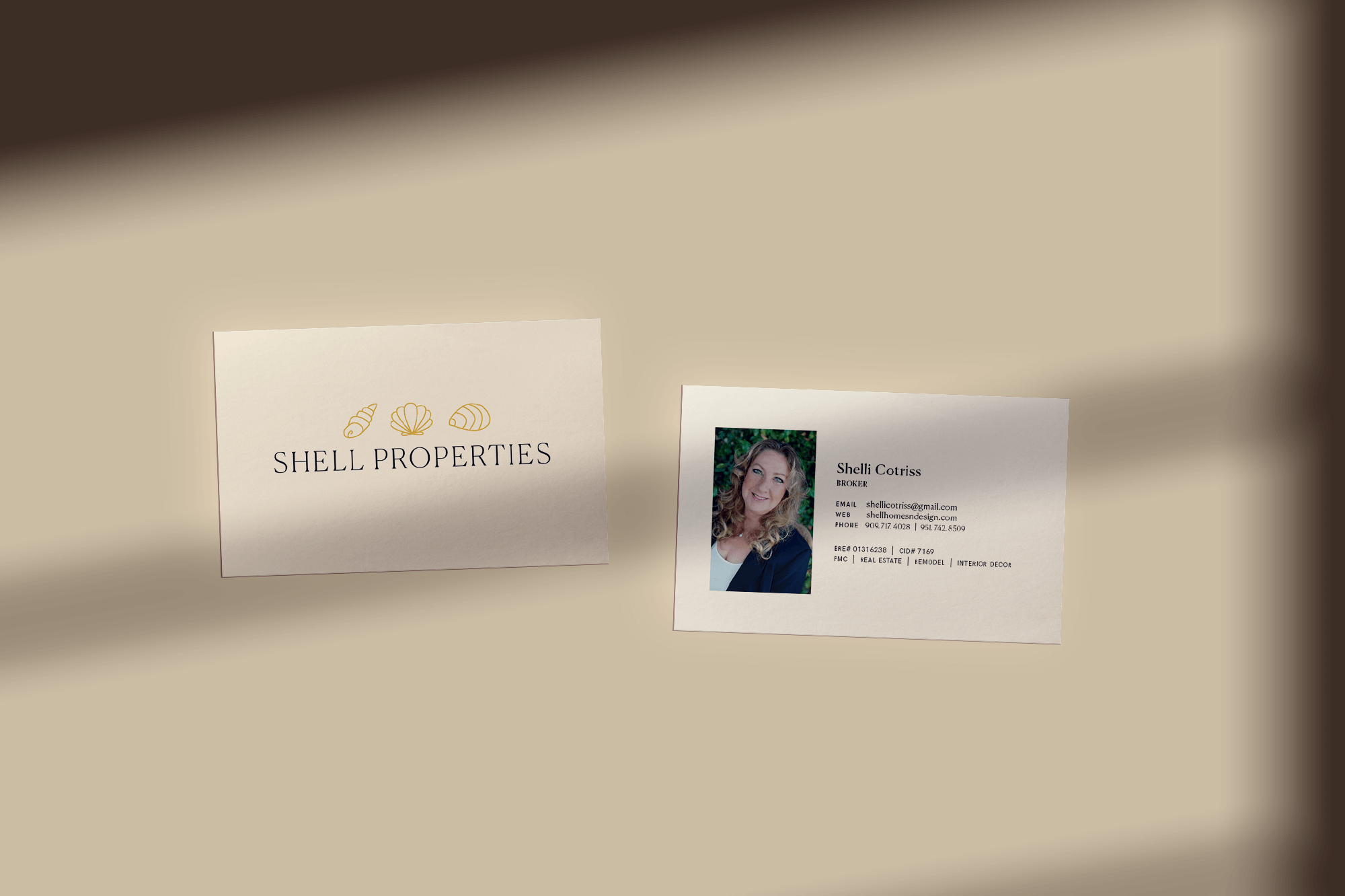 Shell Properties Business Cards